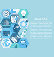 business concept with flat icons vector image vector image