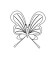 butterfly coloring pages vector image vector image