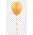 celebratory orange transparent balloon pumped vector image vector image
