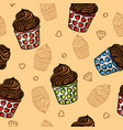 cupcakes seamless pattern image vector image vector image