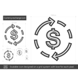 Currency exchange line icon vector image