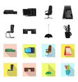 design of furniture and work icon vector image vector image