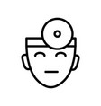 doctor head ophthalmologist with head mirror vector image