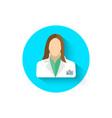 doctor icon is a symbol medicine medical vector image