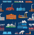 factory industrial building and industry or vector image vector image