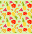 floral seamless pattern with tropical fruit vector image vector image