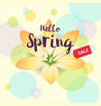 floral spring with yellow flower vector image vector image