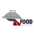 food delivery service restaurant or cafe tray vector image vector image