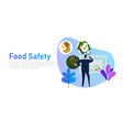 food safety concept of standard compliance man vector image vector image