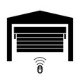garage door the black color icon vector image