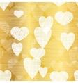 Golden White Hearts Textile Texture vector image vector image