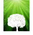 green burst tree vector image