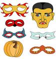 Halloween Mask Set vector image