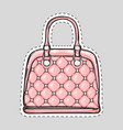 handbag patch with handle clips isolated in flat vector image vector image