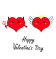 happy valentines day devil angel evil amour red vector image vector image