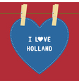 I lOVE HOLLAND5 vector image vector image