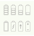Icons battery charge indicator vector image vector image