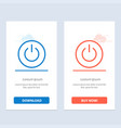 interface on power ui user blue and red download vector image vector image