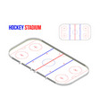 isometric hokkey stadium vector image vector image