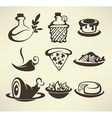 italian food vector image vector image