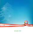lebanon ribbon flag vector image vector image