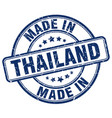 made in thailand blue grunge round stamp vector image vector image