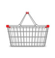 metal wire small shopping basket for mall and vector image vector image
