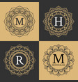 Monogram circle frame vintage luxury style