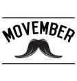 movember graphic design vector image vector image