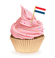 Netherlands Cupcake vector image