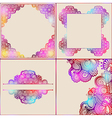 ornate card announcement collection vector image