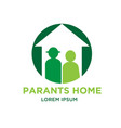 parents home logo designs vector image