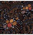 pattern floral black vector image vector image