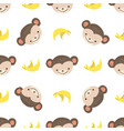 pattern monkey vector image vector image