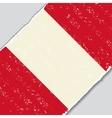 Peruvian grunge flag vector image vector image