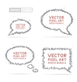 Pixel art speech bubbles vector image