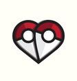 pokemon love logo template vector image vector image