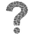 question figure of open book icons vector image
