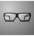 realistic glasses with transparent glass vector image vector image