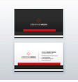 red and black professional business card design vector image vector image