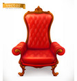 royal chair 3d icon vector image vector image