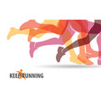 running people set of silhouettes sport and vector image vector image
