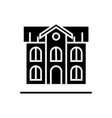 school building icon black vector image