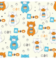 Seamless pattern with cute cats vector image vector image