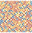 Seamlesss Multicolor Geometric Line Maze vector image vector image