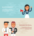 Set of Business Concepts with Businessman Cartoon vector image