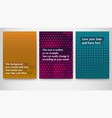 set of posters layout template in a4 size vector image