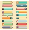 Set of web buttons with space for text in retro vector image vector image
