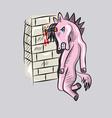 Sick Unicorn vector image vector image