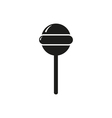 simple black style round lollipop vector image